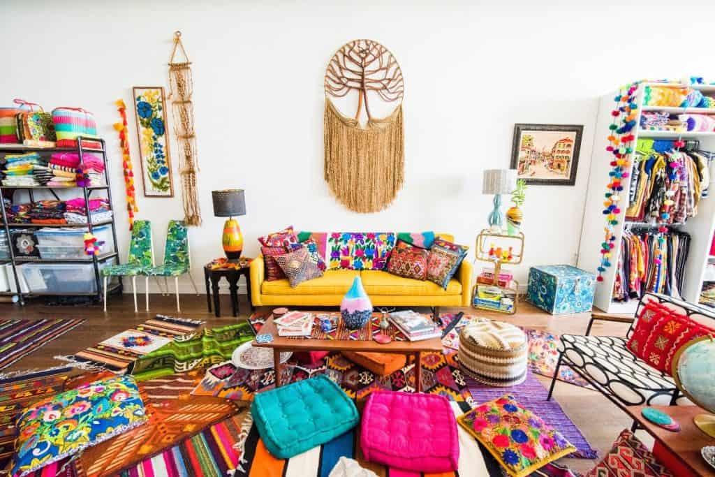 colorful boho loft dtla rental