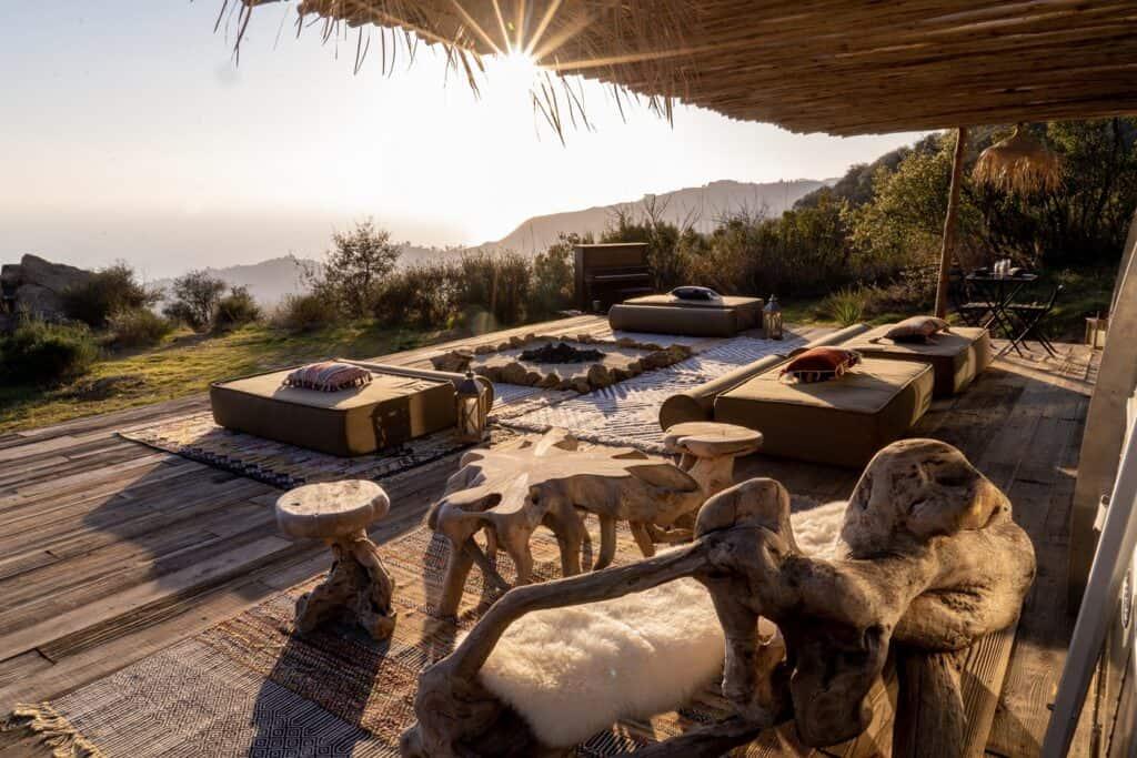 A Magical Eco Retreat Above The Clouds malibu los angeles rental
