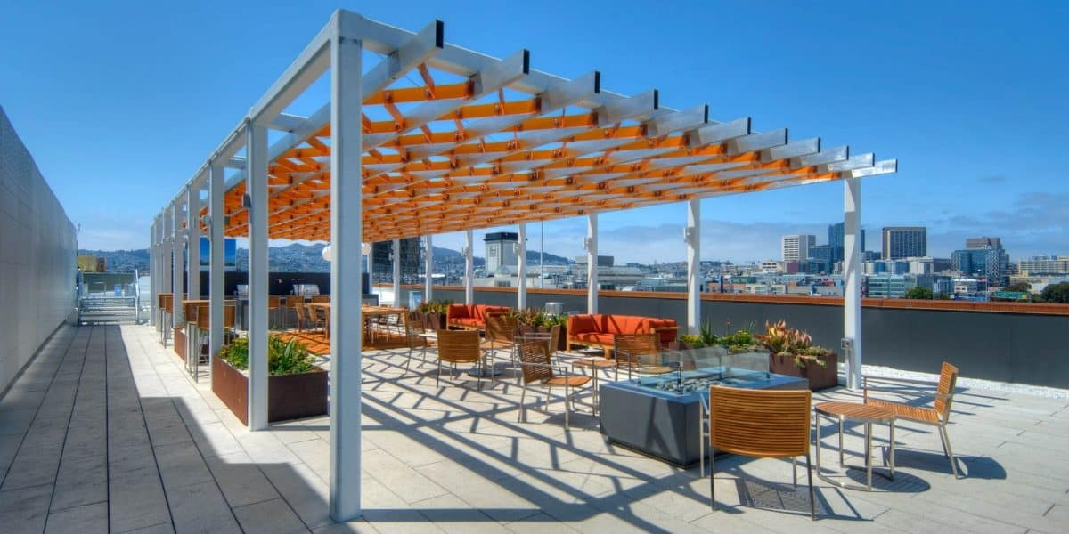 Downtown Rooftop Deck with Skyline View sf san francisco rental