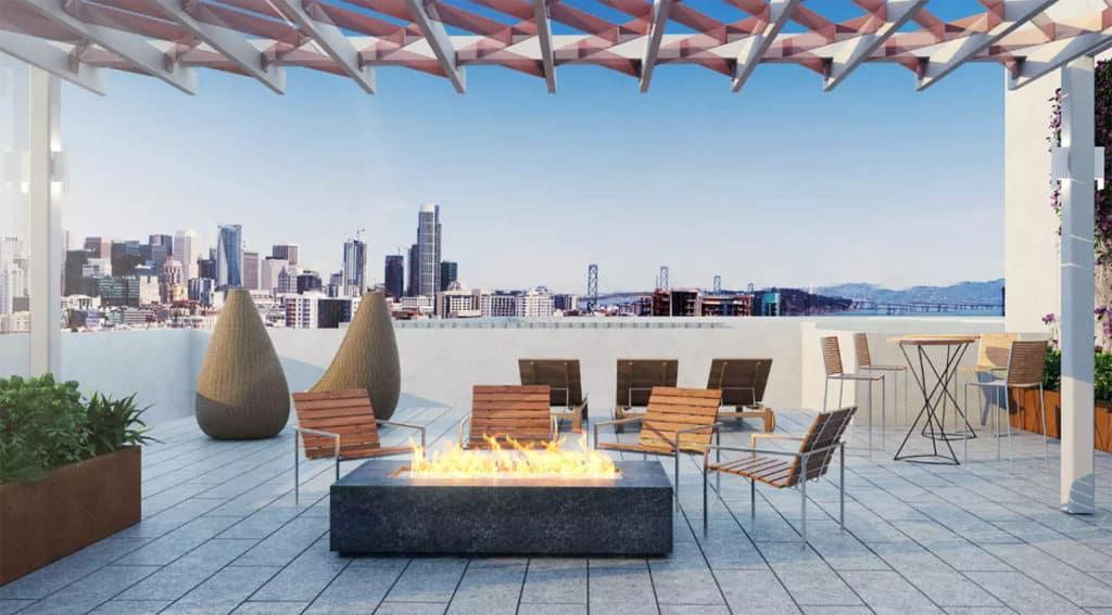 Downtown Rooftop Deck sf san francisco rental