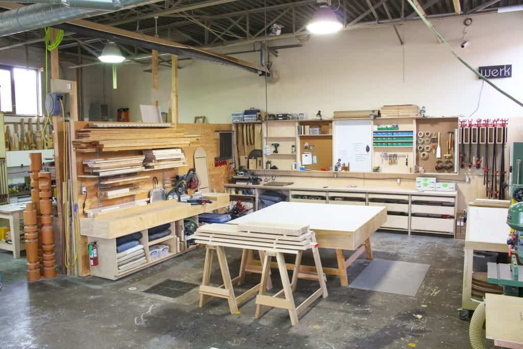 Fully Equipped Functional Industrial Woodworking Studio toronto rental