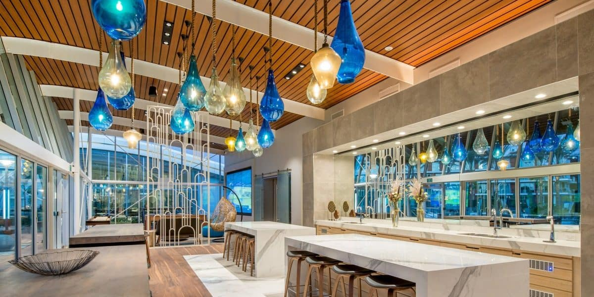 Indoor Luxury Lounge with Kitchen huntington beach rental