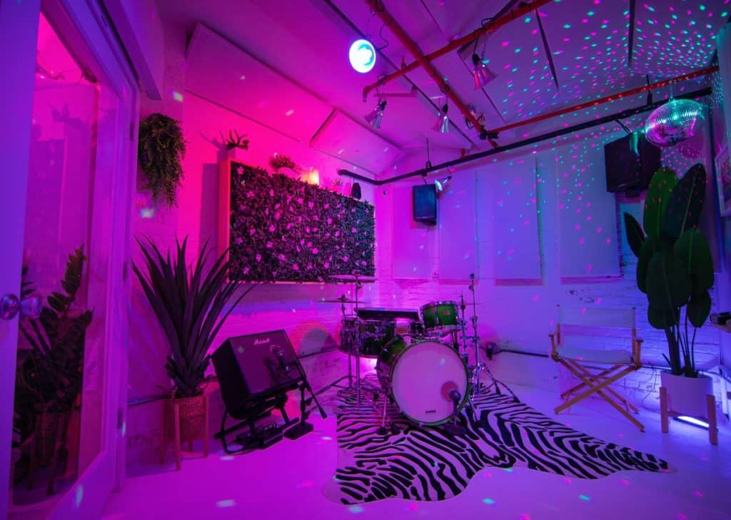 Japandi Recording Studio w Hygge Tropical Vibes nyc new york city rental
