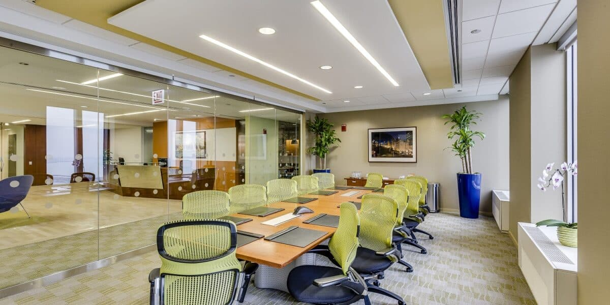 Sunlit Boardroom Overlooking Millennium Park chicago rental