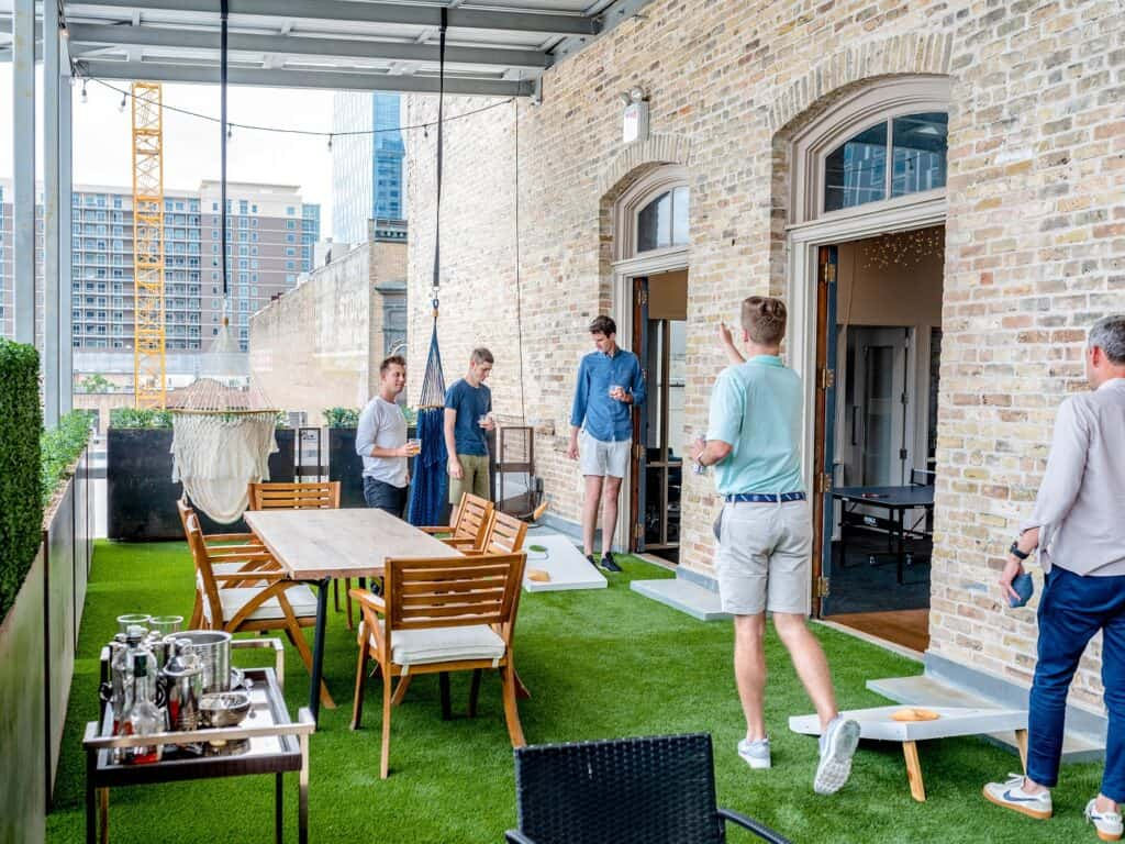 Trendy Startup Office with Green Patio on 6th Street austin rental