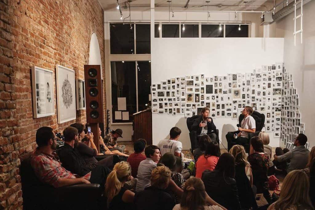 Uptown Art Gallery with open floor plan denver rental