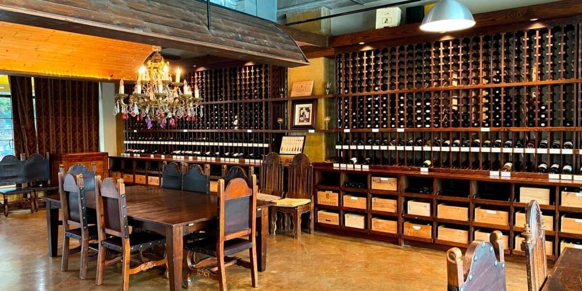 elegant european style wine cellar