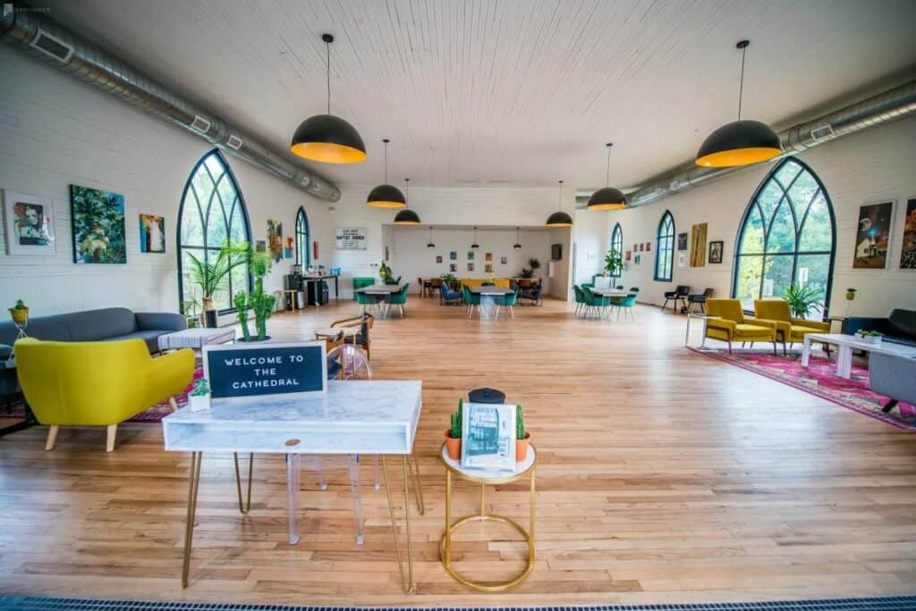 converted church event space in Austin
