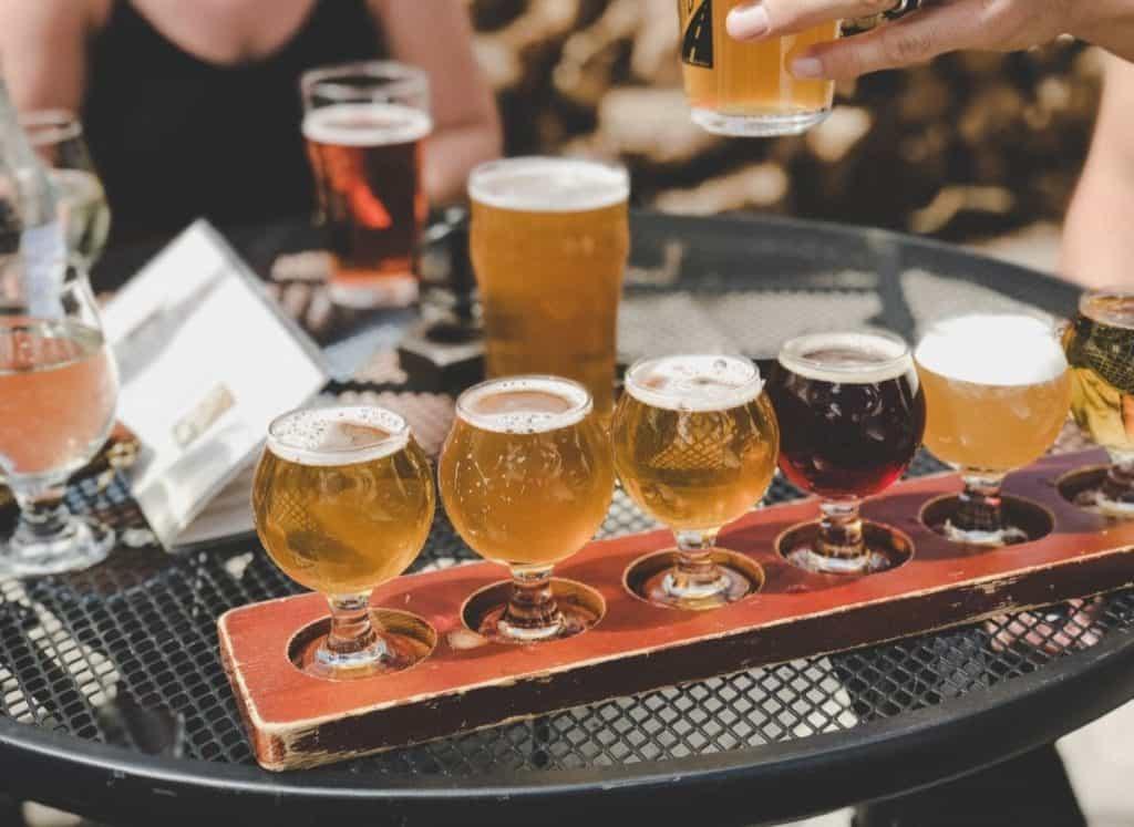 beer flight sample