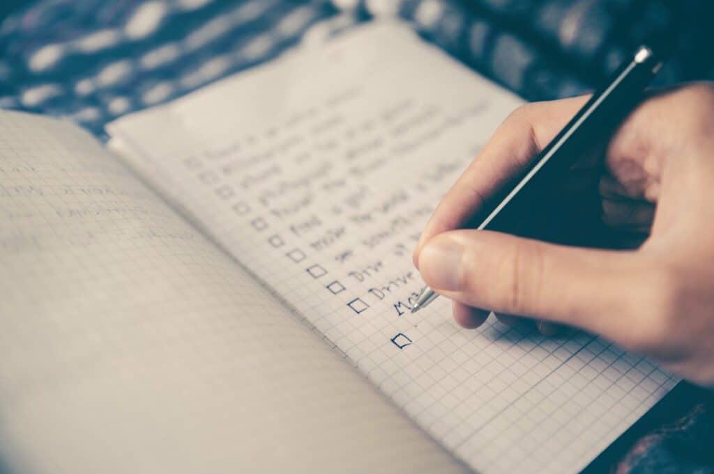 checklist notebook