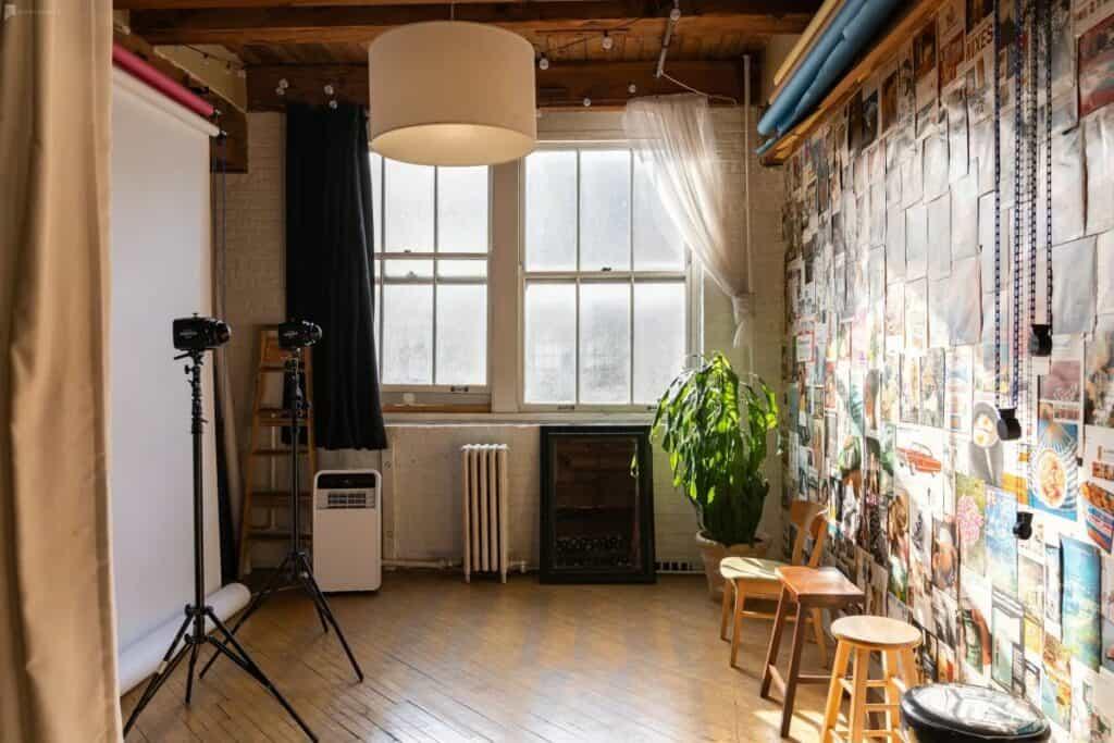 simple sunlit studio in Chicago