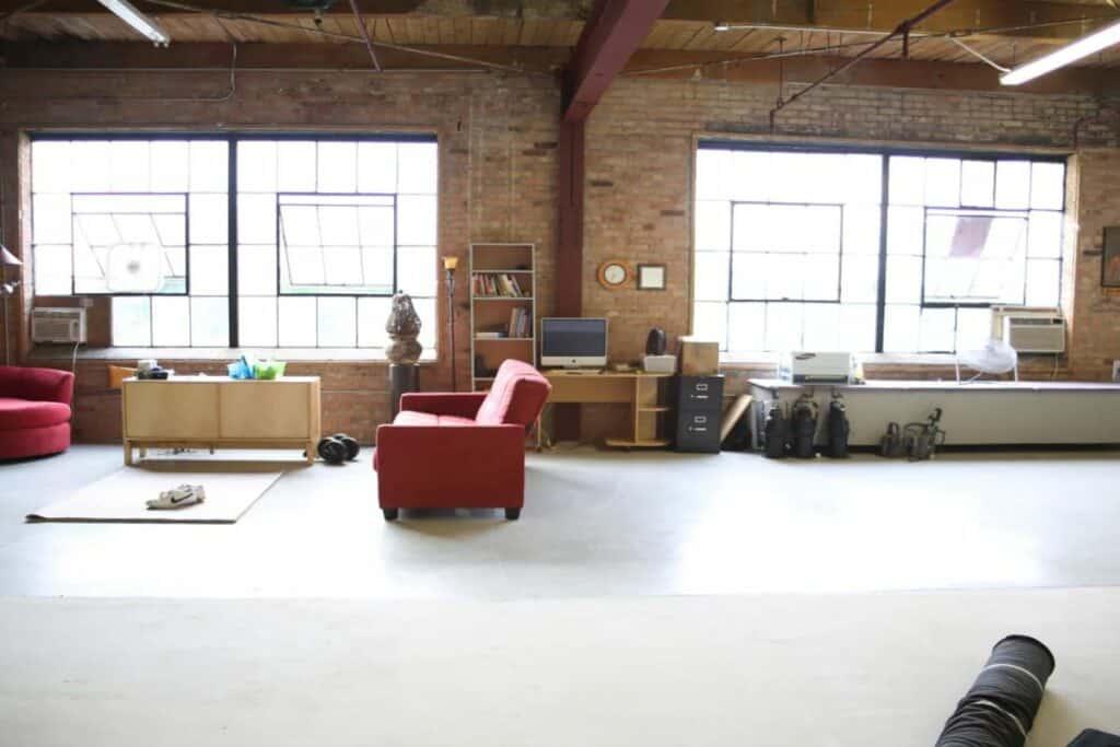 eclectic studio with equipmentS