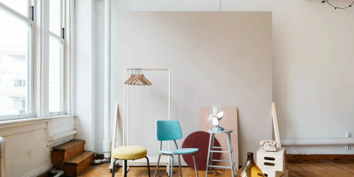 cute, bright studio space