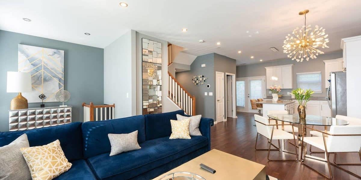 Luxurious living room in a photo shoot rental in D.C.
