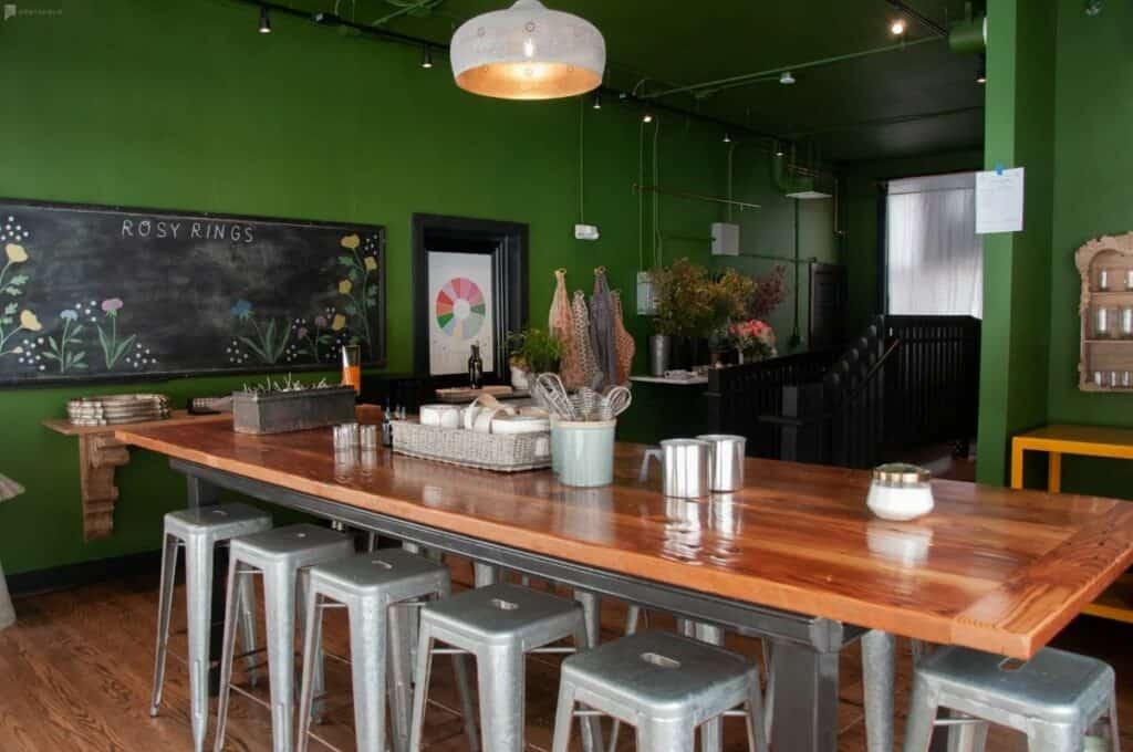 rustic inviting cafe
