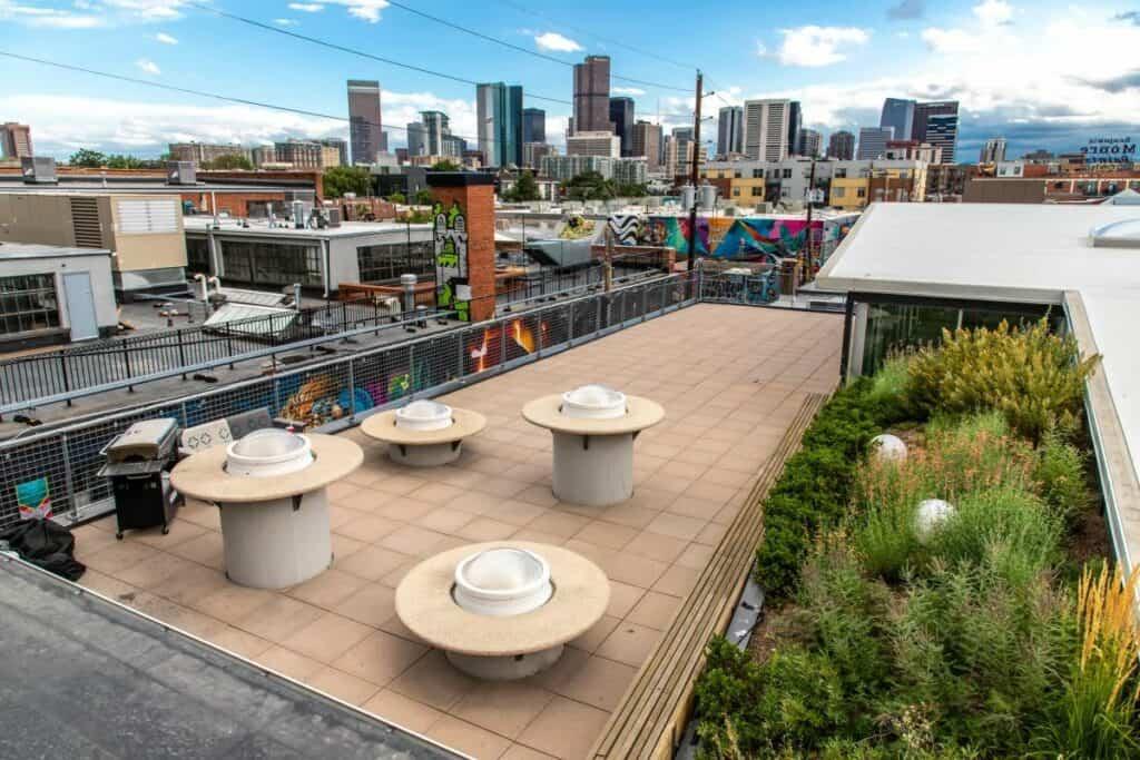 stylish rooftop venue