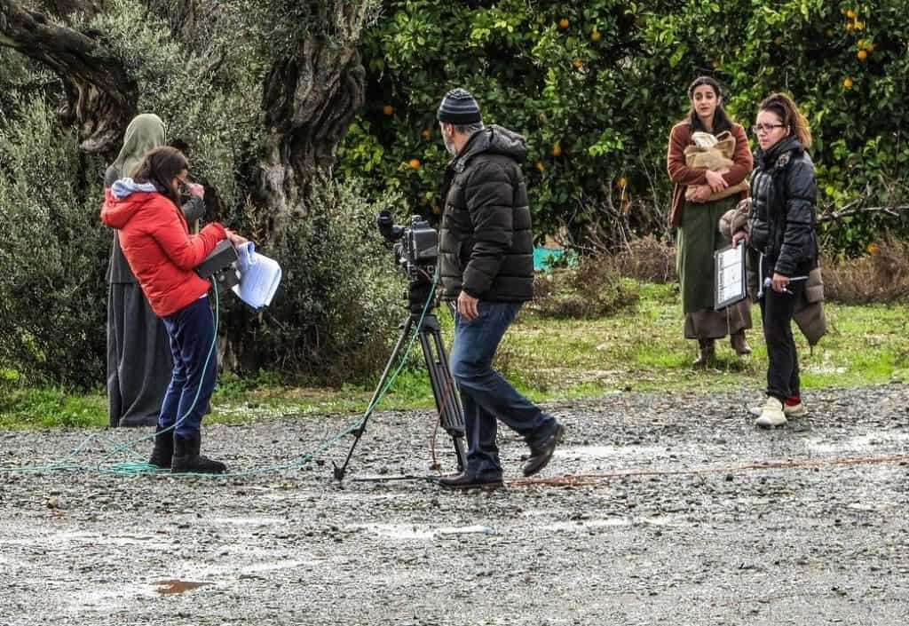film crew on production