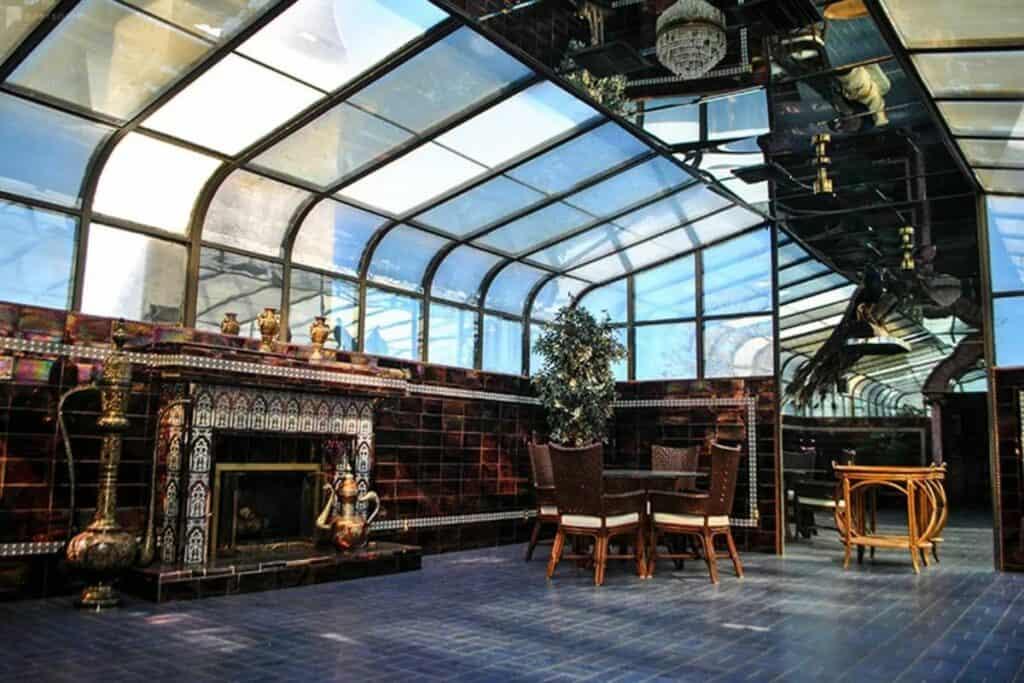stunning solarium atop a mansion in vegas