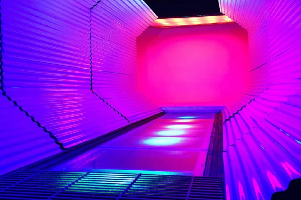 neon LED production tunnel