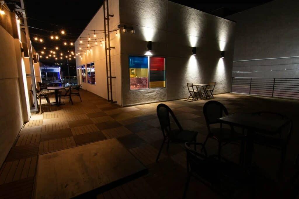 rustic, modern cafe venue