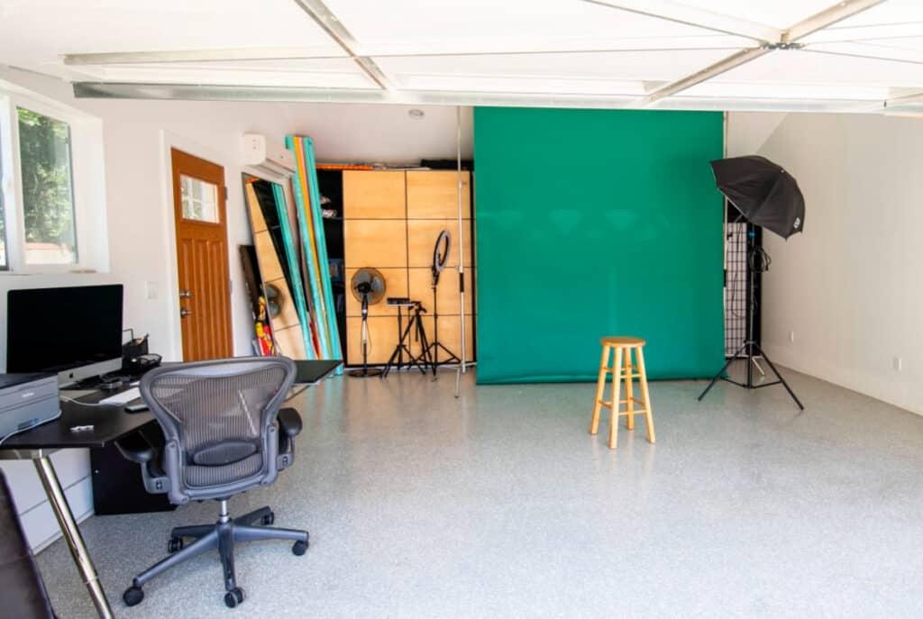 a cozy studio space in LA