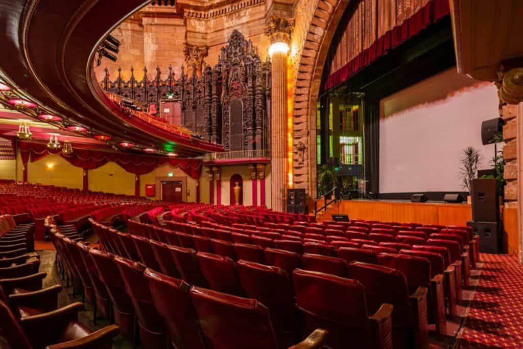historic theater and stage in central los angeles