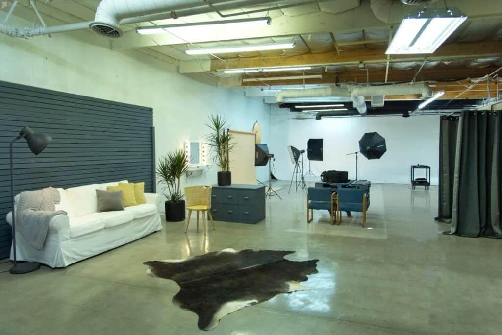 minimalist studio in LA