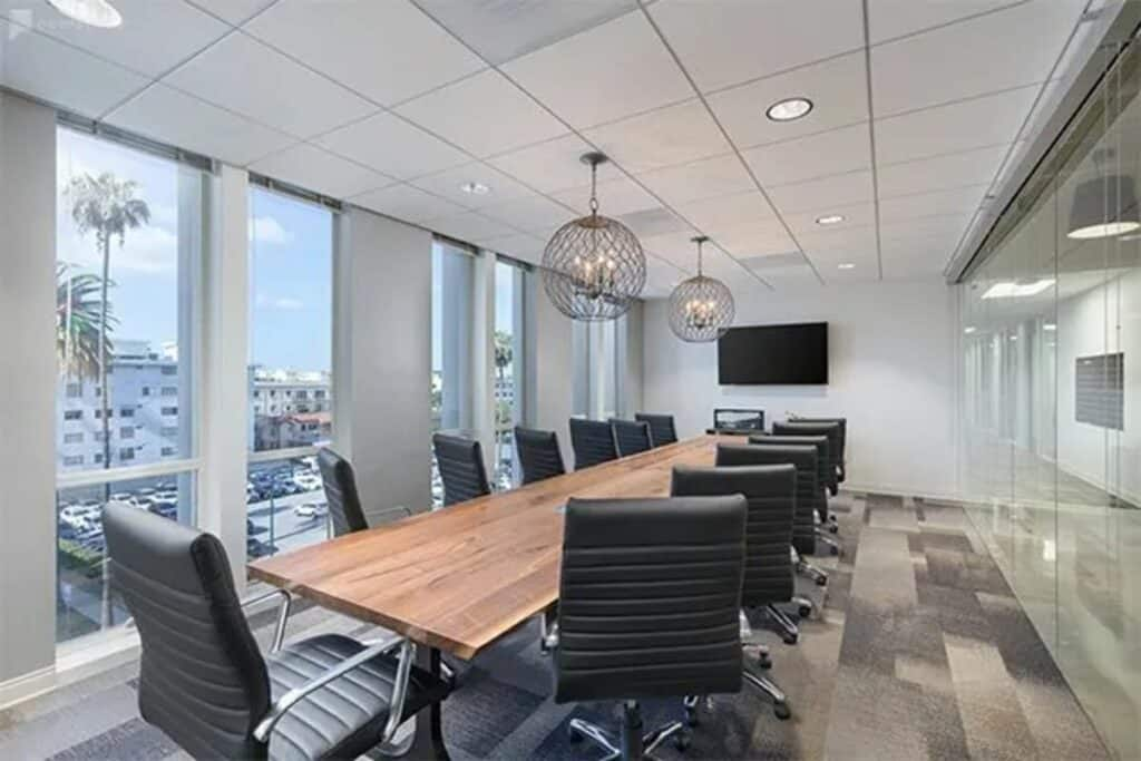 sleek, modern beverly hills office
