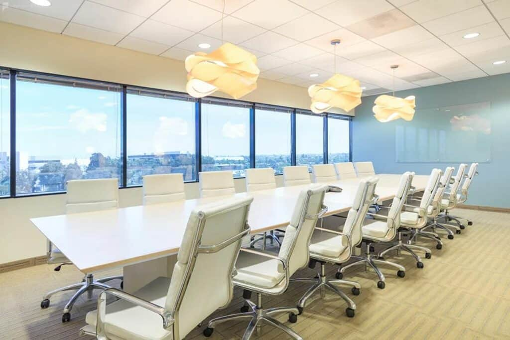 elegant conference space with beach views