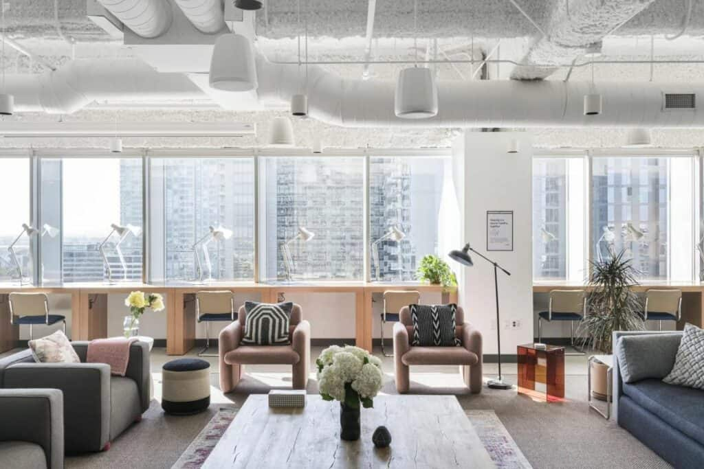 office space with stunning downtown views