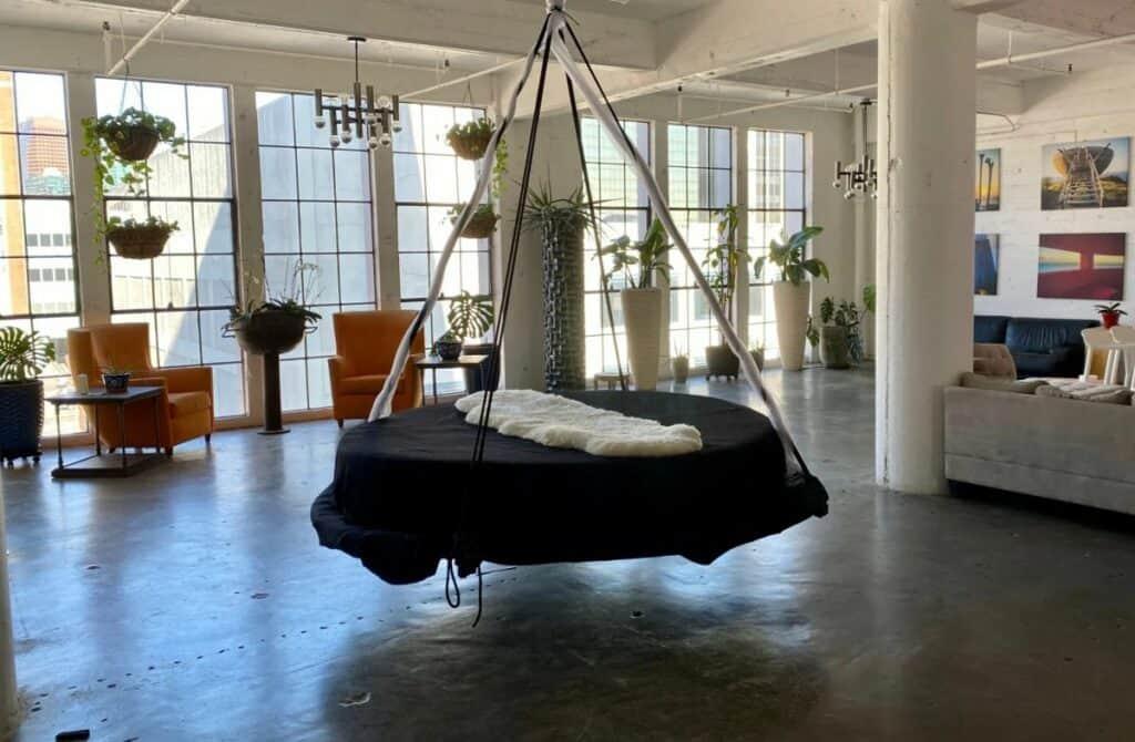 urban garden oasis studio in LA