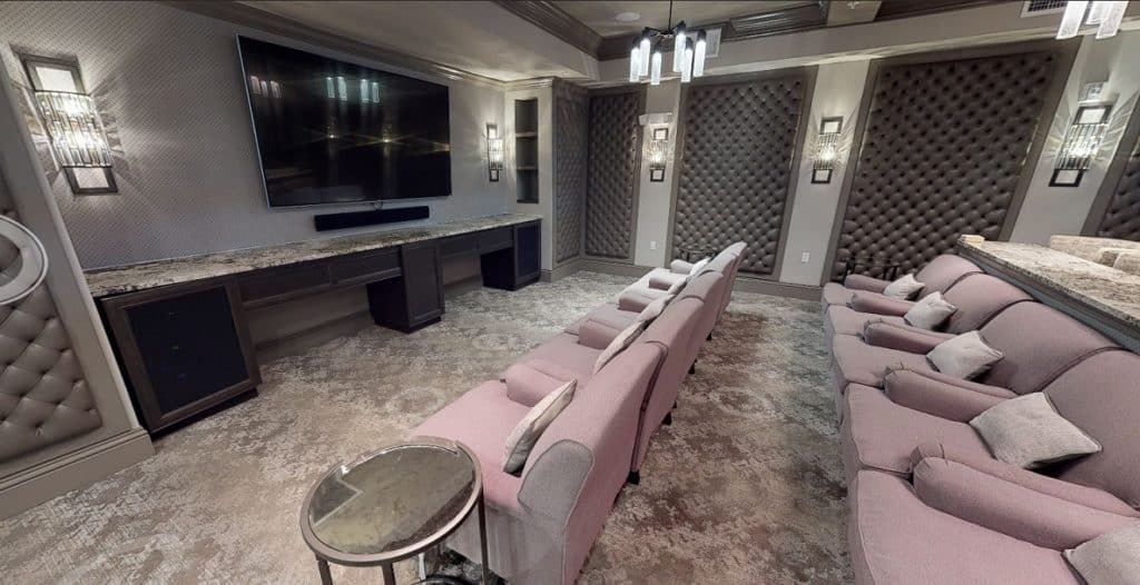 Luxurious Theater Room in St. Petersburg