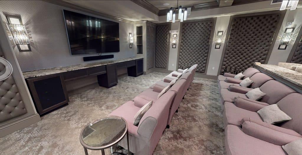 Luxurious Theater Room in St. Petersburg