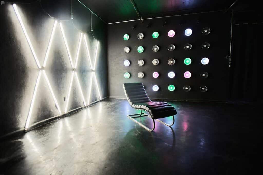 unique blackout color light studio
