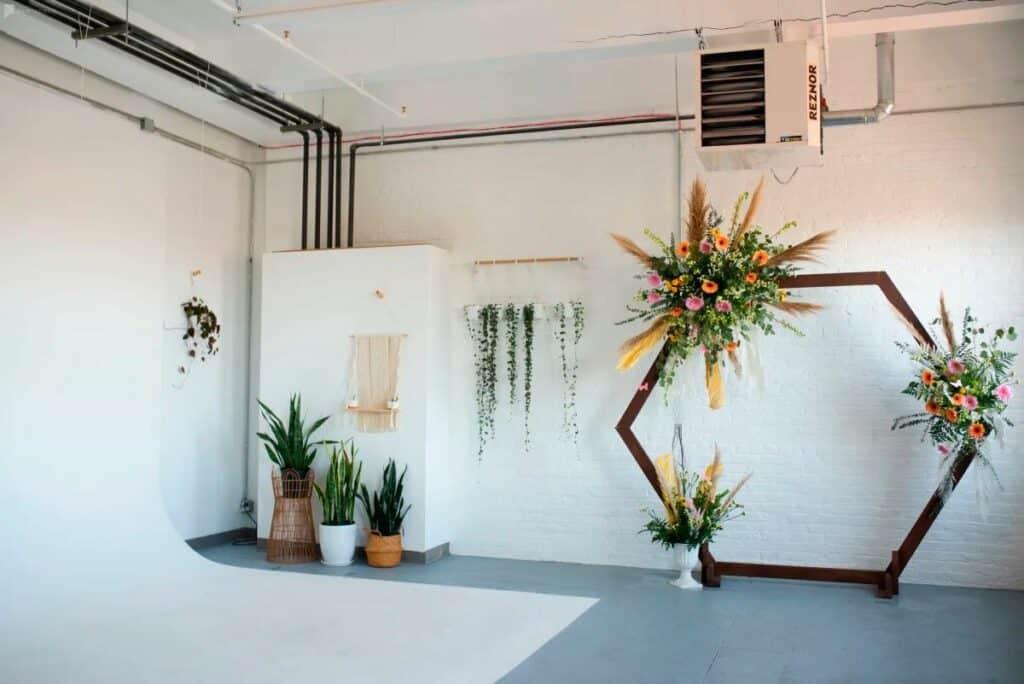 chic boho florist studio