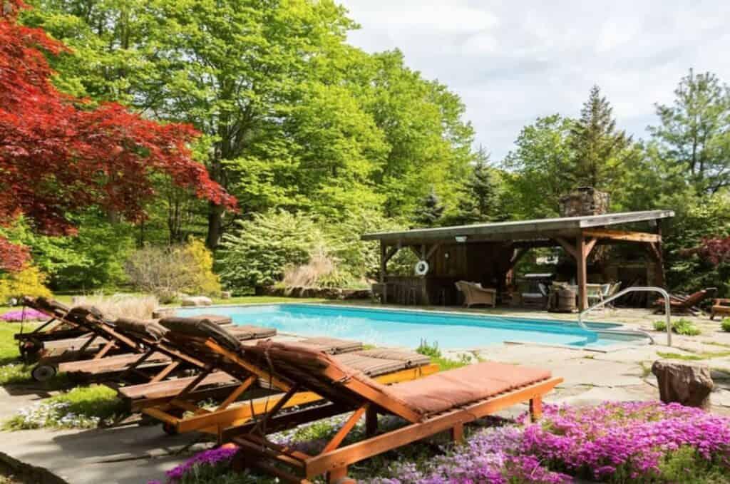home with sauna men's retreat ideas