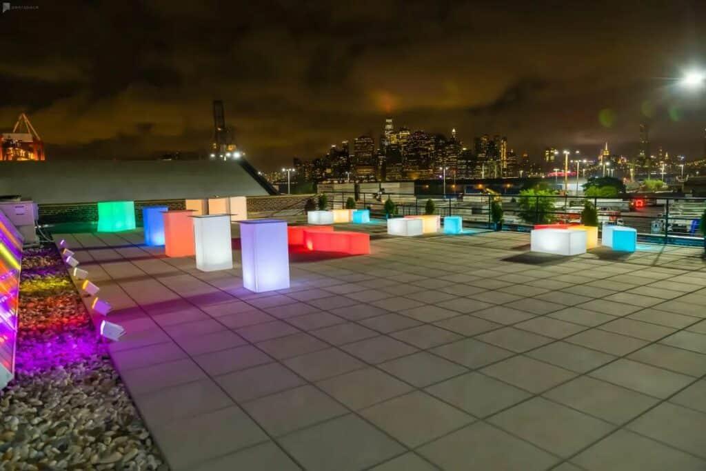 neon rooftop in brooklyn