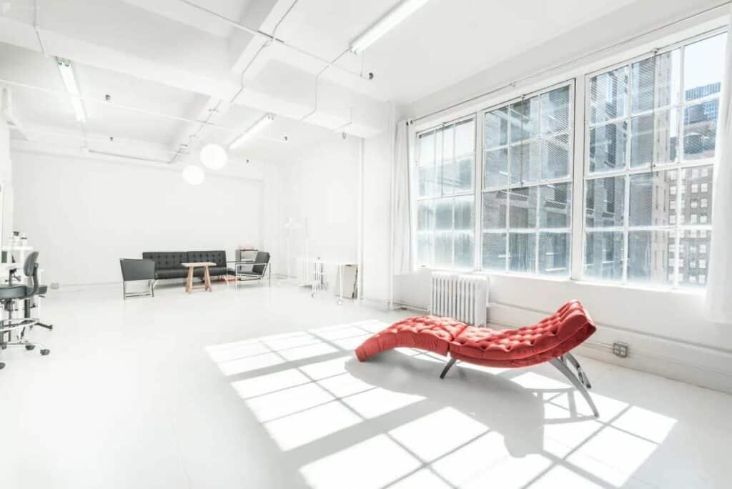 spacious daylight studio