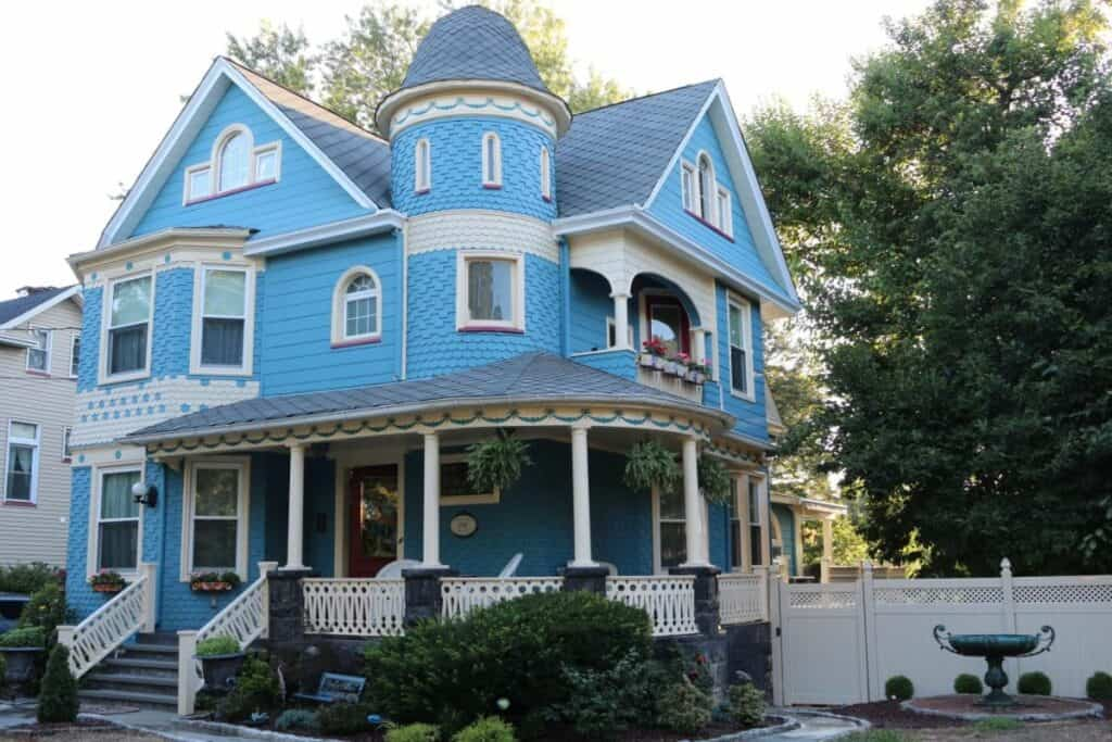 victorian mansion with spacious yard
