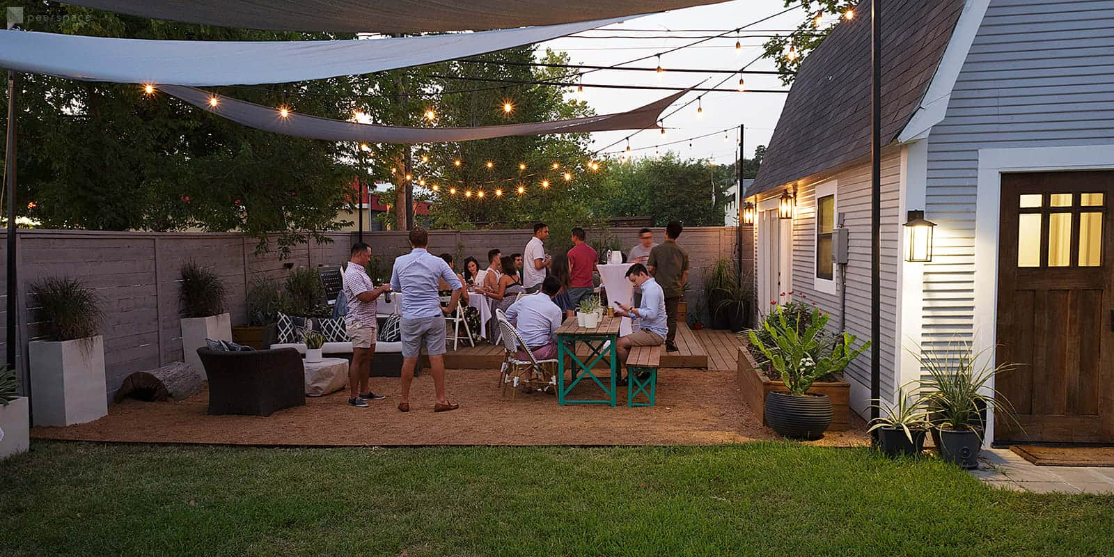 outdoor intimate space houston rental