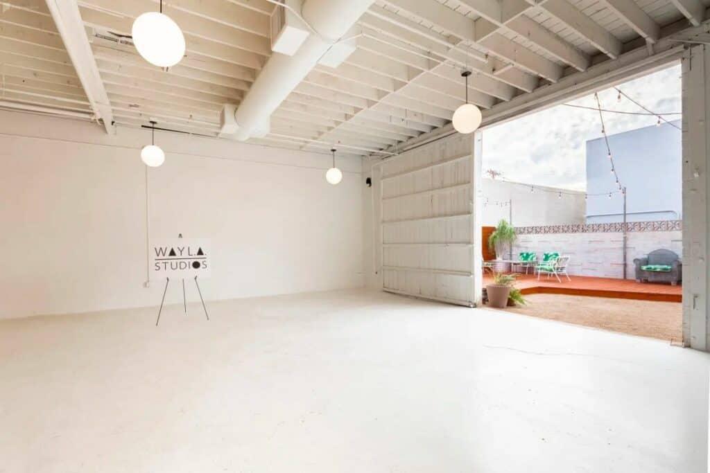pure white studio space in midtown phoenix