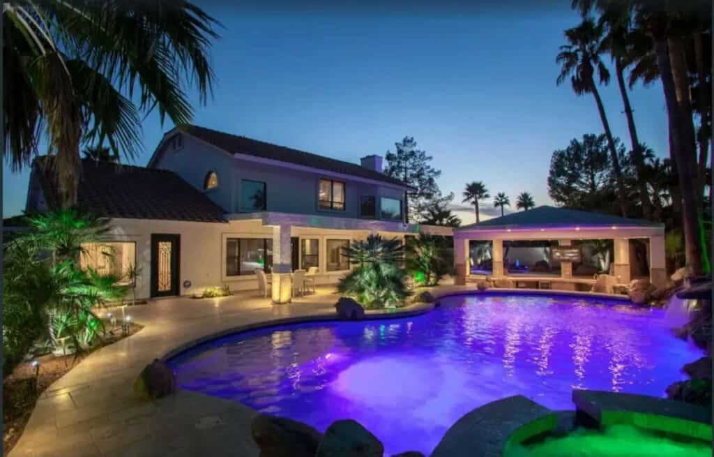 luxury party home in phoenix