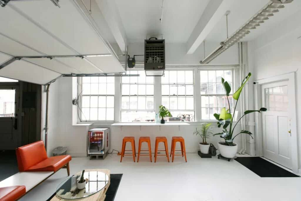 industrial studio with natural light