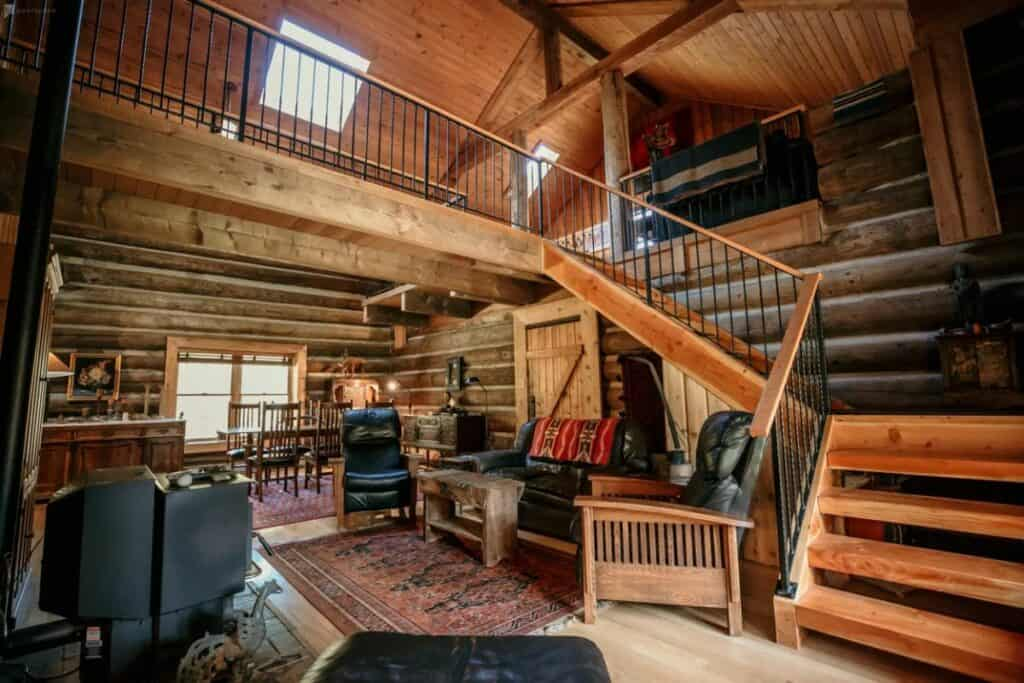 exquisite log cabin in portland