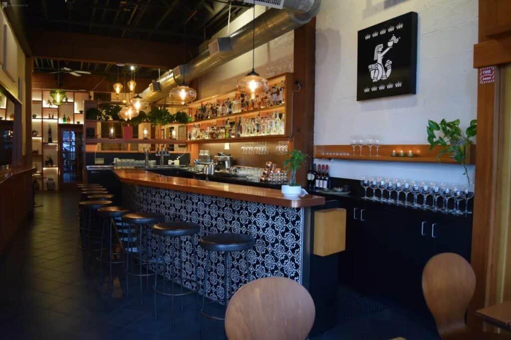 refined contemporary bar in portland