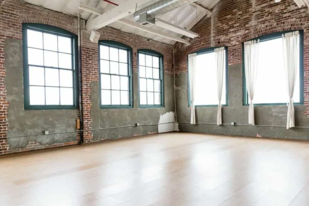 studio with natural light