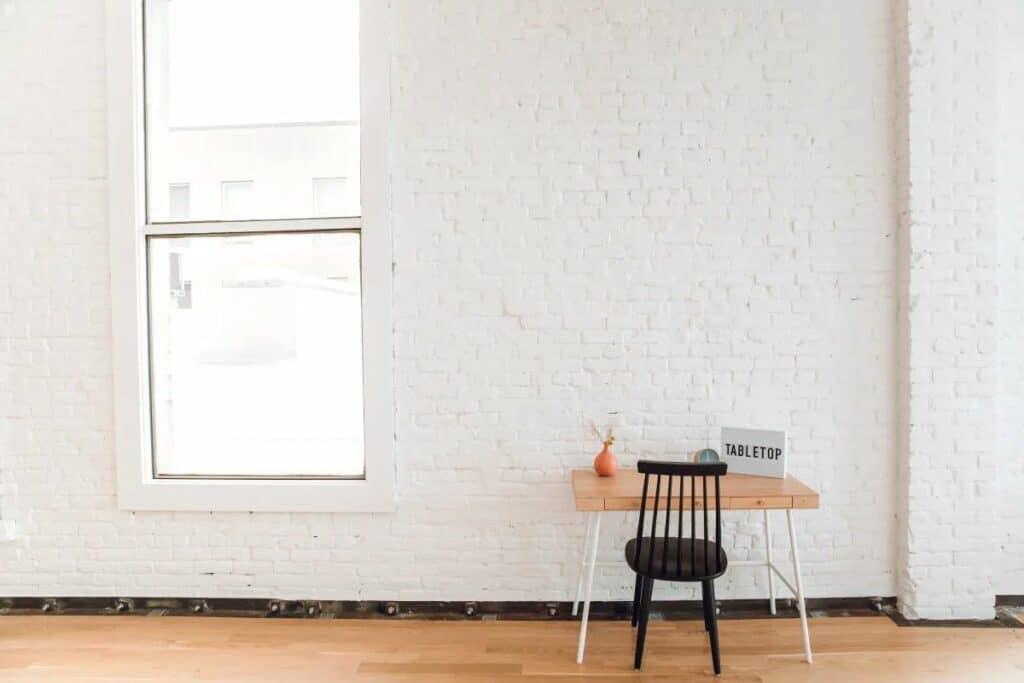 sunny tabletop studio