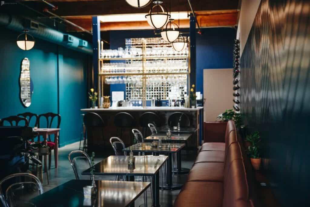 modern artsy wine bar in portland