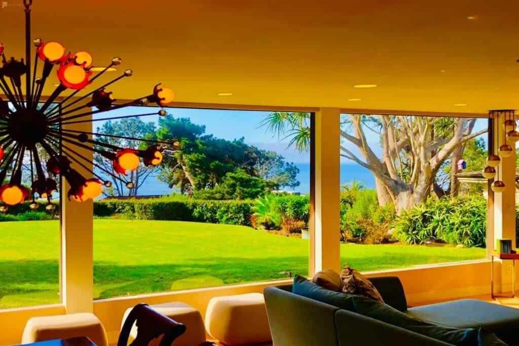 midcentury modern home with ocean views