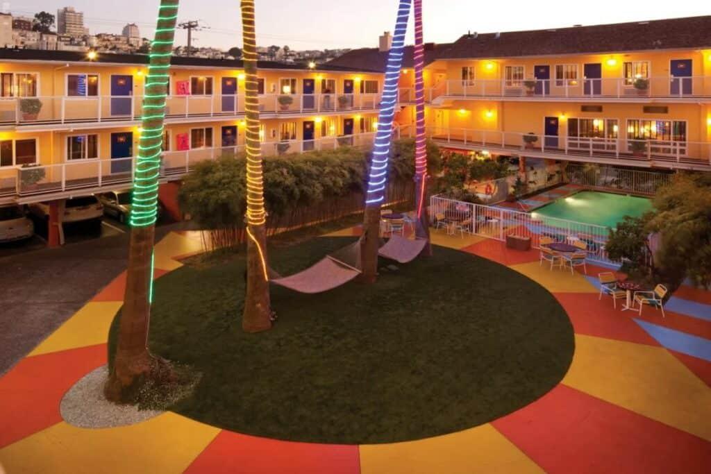 colorful hotel del sol